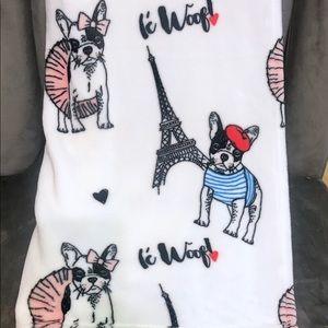 Other - Frenchie ◈ Plush Throw Blanket ◈ Paris Eiffel